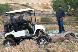 What Could Possibly Go Wrong? - Monster Truck Golf Cart