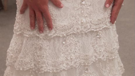 1808fcca0 This Pnina Tornai dress is a little sexy, a little sweet and a big  showstopper. Watch this video for a close-up view of the intricate lace  details and ...