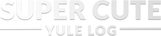 Super Cute Yule Log